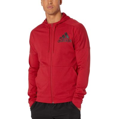 Adidas - Adidas Active Maroon/Black Back To School Full Zip Hoodie