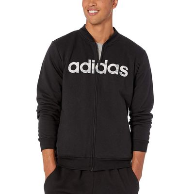 Adidas - Adidas Black/White/Grey One Essentials Camo Linear Jacket