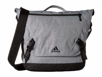 Adidas - adidas Heather Grey/Black Sport ID Messenger Bag