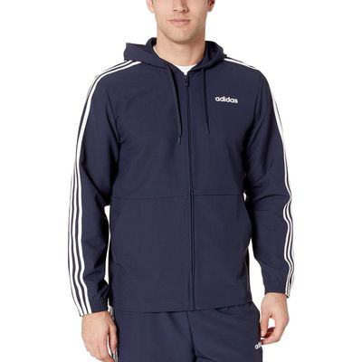 Adidas - Adidas Legend Ink/White Essentials 3-Stripe Woven Hoodie