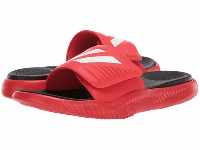 Adidas - Adidas Men Active Red/Footwear White/Core Black Alphabounce Basketball Slides Active Sandals