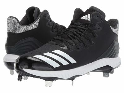 Adidas - Adidas Men Core Black/Footwear White/Carbon İcon Bounce Mid Cleats