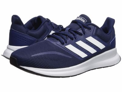 Adidas - Adidas Men Dark Blue/Footwear White/Core Black Falcon Running Shoes