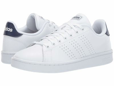 Adidas - Adidas Men Footwear White/Footwear White/Dark Blue Advantage Lifestyle Sneakers