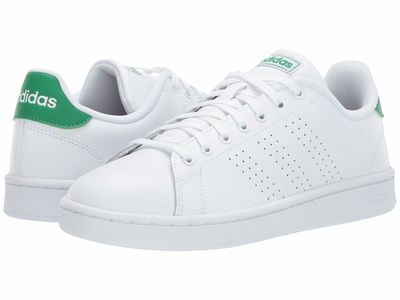 Adidas - Adidas Men Footwear White/Footwear White/Green Advantage Lifestyle Sneakers