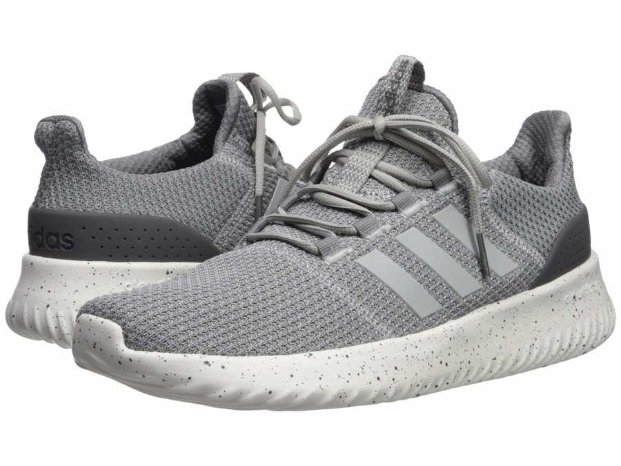 Adidas Men Grey Three F17/Grey Two F17/Grey Five Cloudfoam Ultimate Lifestyle Sneakers