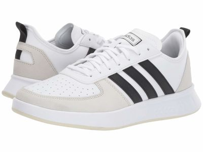 Adidas - Adidas Men White/Core Black/Raw White Court 80S Lifestyle Sneakers