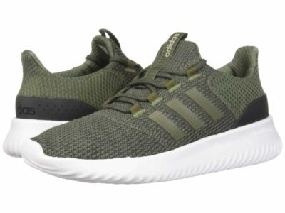 Adidas - adidas Men's Base Green Base Green Carbon Cloudfoam Ultimate Lifestyle Sneakers