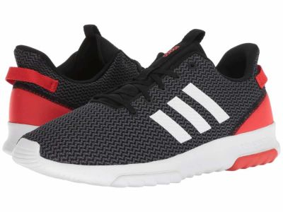 Adidas - adidas Men's Black/White/Hi-Res Red Cloudfoam Racer TR Lifestyle Sneakers