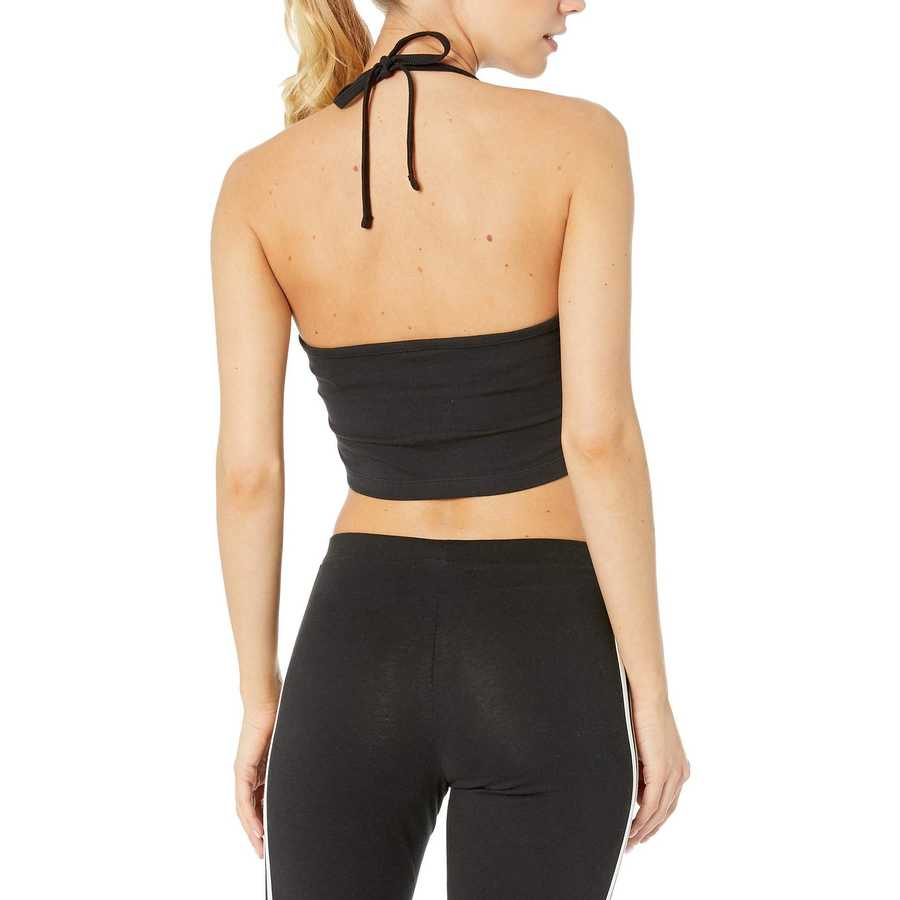 Adidas Originals Black 1 Trefoil Cropped Tank Top