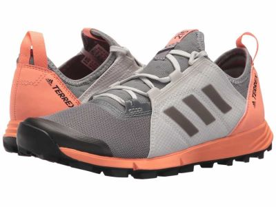 Adidas - adidas Outdoor Women's Grey Three/Black/Chalk Coral Terrex Agravic Speed Running Shoes