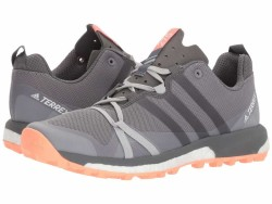adidas Outdoor Women's Grey Three/Grey Four/Chalk Coral Terrex Agravic Running Shoes - Thumbnail