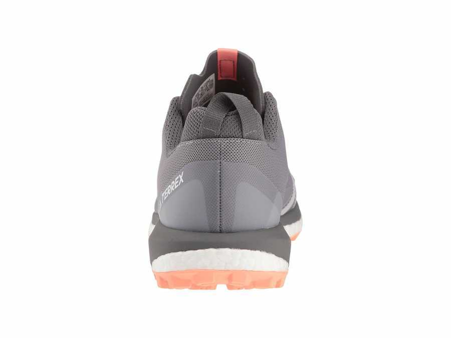 adidas Outdoor Women's Grey Three/Grey Four/Chalk Coral Terrex Agravic Running Shoes