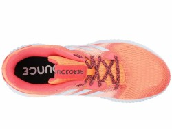 adidas Running Women's Hi-Res Orange Real Coral Aero Blue Aerobounce Running Shoes - Thumbnail