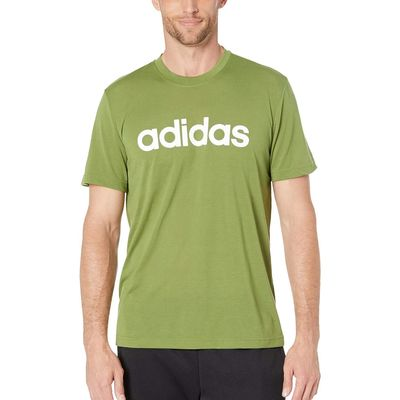 Adidas - Adidas Tech Olive Designed-2-Move Linear Logo Short Sleeve Tee