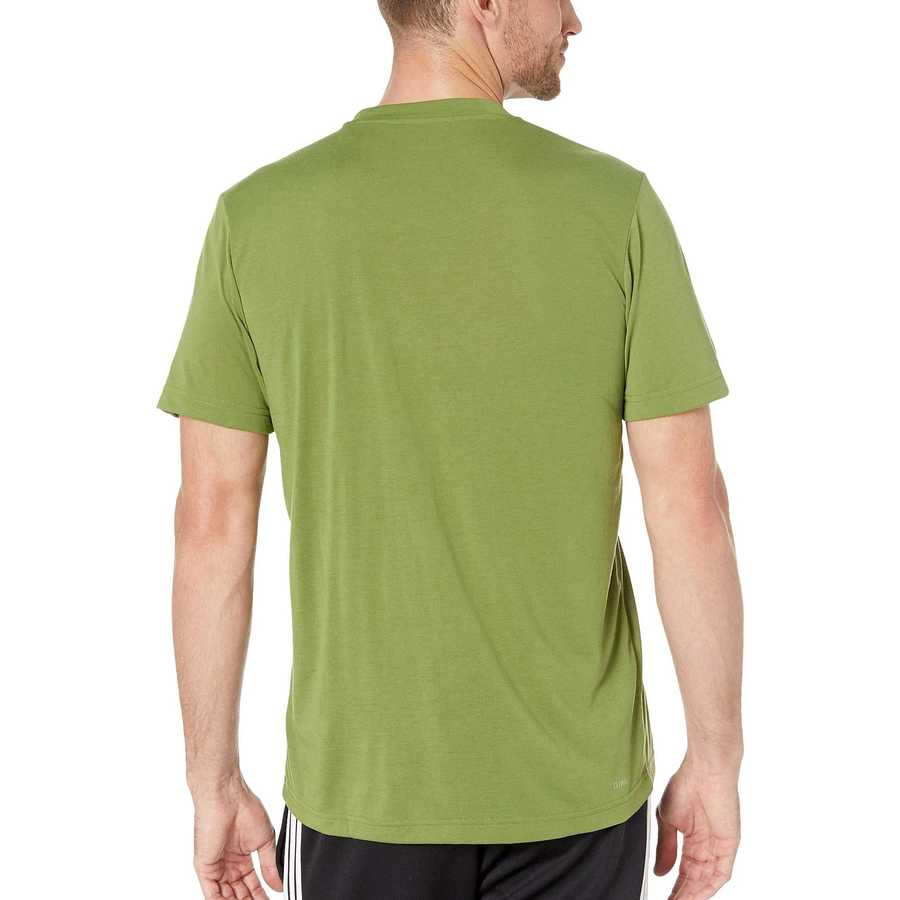 Adidas Tech Olive Designed-2-Move Linear Logo Short Sleeve Tee