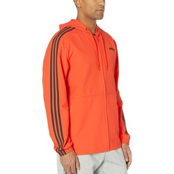 Adidas True Orange Essentials 3-Stripe Woven Hoodie - Thumbnail