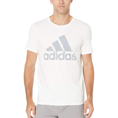 Adidas - Adidas White Badge Of Sport Mesh Tee