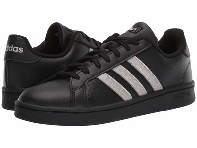 Adidas - Adidas Women Core Black/Metallic/Core Black Grand Court Lifestyle Sneakers