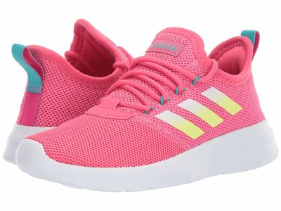 Adidas - Adidas Women Real Pink/Hi-Res Yellow/White Lite Racer Reborn Lifestyle Sneakers