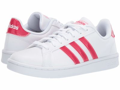 Adidas - Adidas Women White/Active Pink/White Grand Court Lifestyle Sneakers