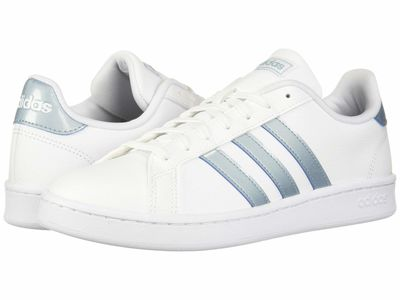 Adidas - Adidas Women White/Ash Grey/Light Granite Grand Court Lifestyle Sneakers