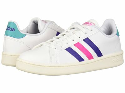 Adidas - Adidas Women White/Energy İnk/Shock Pink Grand Court Lifestyle Sneakers