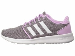 adidas Women's Clear Lilac White Clear Brown Cloudfoam QT Racer Lifestyle Sneakers - Thumbnail