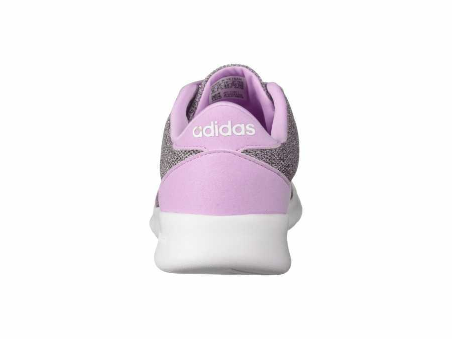 adidas Women's Clear Lilac White Clear Brown Cloudfoam QT Racer Lifestyle Sneakers