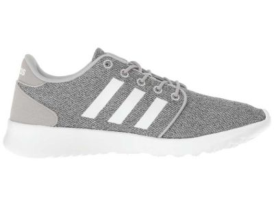 Adidas - Adidas Women's Clear Onix/Running White/Clear Onix Mesh Cloudfoam QT Racer Sneakers Athletic Shoes 8812402665328