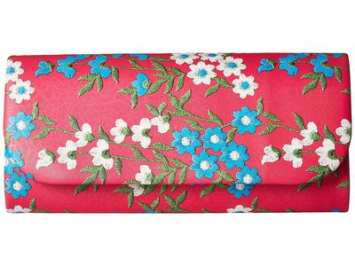 Adrianna Papell - Adrianna Papell Fuchsia Floral Katie Clutch Bag
