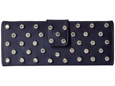 Adrianna Papell - Adrianna Papell Navy/Silver Salena Clutch Bag