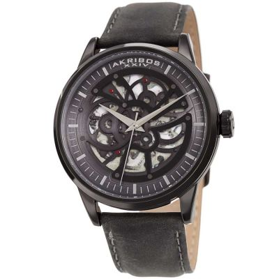 Akribos XXIV - Akribos XXIV Men Leather Watches AK1018BK AK1018BK