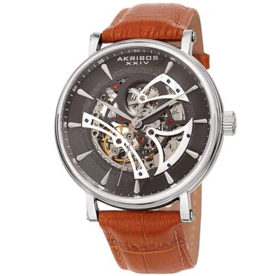 Akribos XXIV - Akribos XXIV Men Leather Watches AK1020SSBR AK1020SSBR