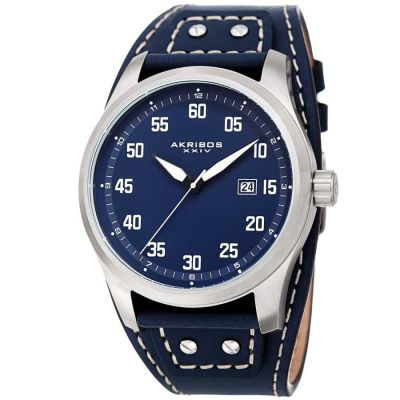 Akribos XXIV - Akribos XXIV Men Leather Watches AK1024BU AK1024BU
