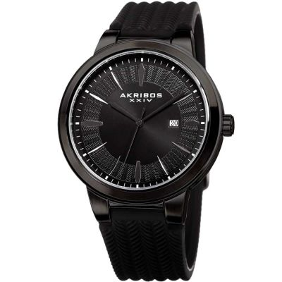 Akribos XXIV - Akribos XXIV Men Silicon Watches AK1007BK AK1007BK