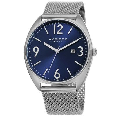 Akribos XXIV - Akribos XXIV Men Stainless Steel Watches AK1026BU AK1026BU