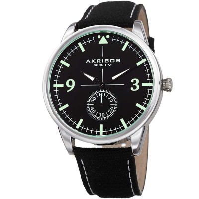 Akribos XXIV - Akribos XXIV Men's Casual Canvas Strap Watch AK938BK