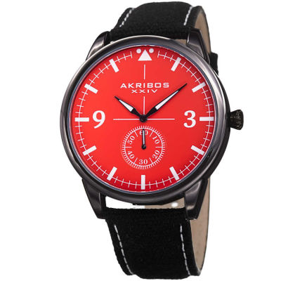 Akribos XXIV - Akribos XXIV Men's Casual Canvas Strap Watch AK938RD