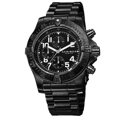 Akribos XXIV - Akribos XXIV Men's Chronograph Quartz Stainless Steel Bracelet Watch AK711BK