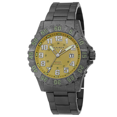 Akribos XXIV - Akribos XXIV Men's Divers Japanese Quartz Stainless Steel Bracelet Watch AK794BK