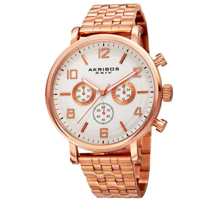 Akribos XXIV - Akribos XXIV Men's Japanese Quartz Chronograph Stainless Steel Bracelet Watch AK800RG