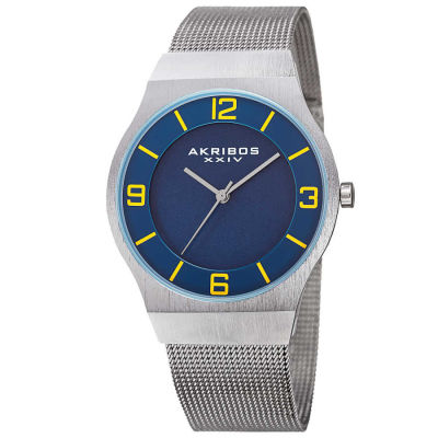 Akribos XXIV - Akribos XXIV Men's Japanese Quartz Stainless Steel Mesh Bracelet Watch