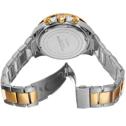 Akribos XXIV Men's Multifunction Swiss Quartz Stainless Steel Bracelet Watch AK694TTG - Thumbnail