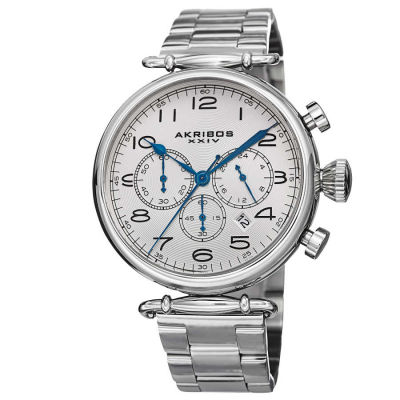 Akribos XXIV - Akribos XXIV Men's Quartz Chronograph Stainless Steel Bracelet Watch AK764SS