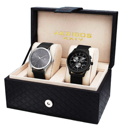 Akribos XXIV - Akribos XXIV Men's Quartz Chronograph Strap/Bracelet Watch Set AK737-1