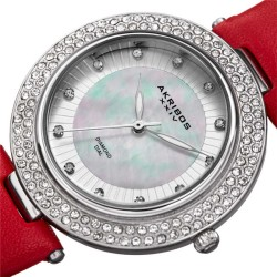 Akribos XXIV Women Leather Watches AK1008RD AK1008RD - Thumbnail