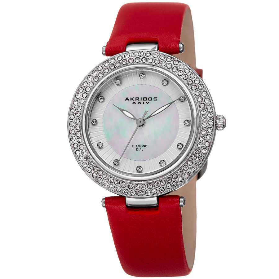 Akribos XXIV Women Leather Watches AK1008RD AK1008RD