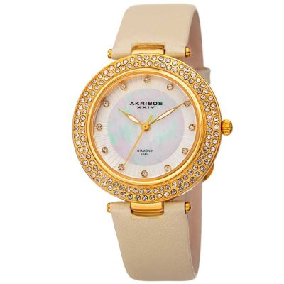 Akribos XXIV - Akribos XXIV Women Leather Watches AK1008YG AK1008YG