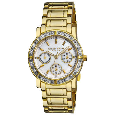 Akribos XXIV - Akribos XXIV Women's Crystal Multifunction Bracelet Watch AK530YG